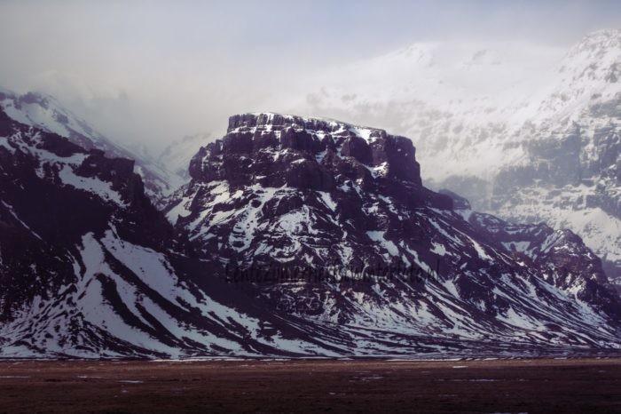Berg met ijs