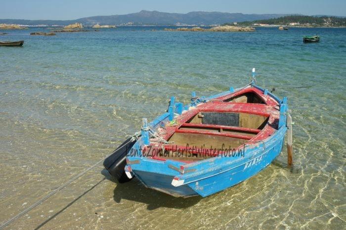 Noord Portugal houten vissersboot